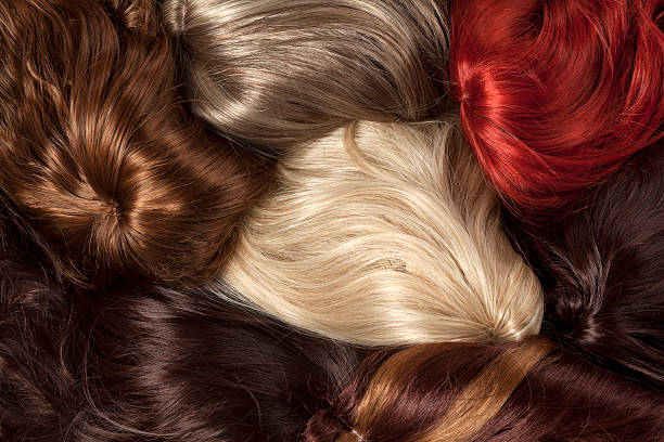 different color wigs - 가발 뉴스 사진 이미지