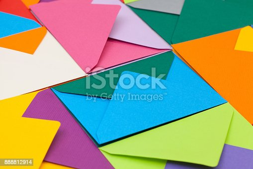 istock Different colored envelopes 888812914
