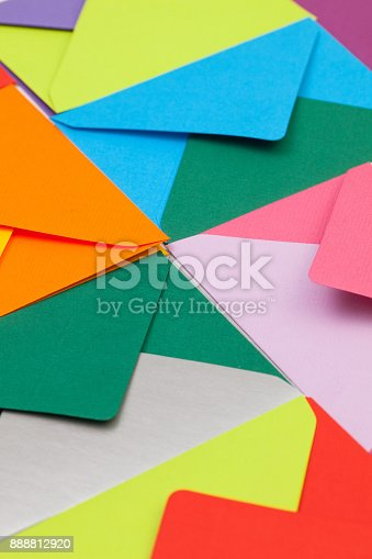 istock Different colored envelopes 888812920