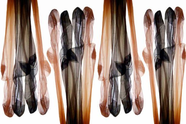 different colored nylon stockings. - nylon stock-fotos und bilder