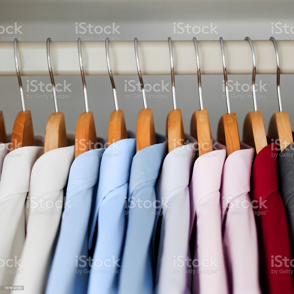 Different Colored Shirts stock photo