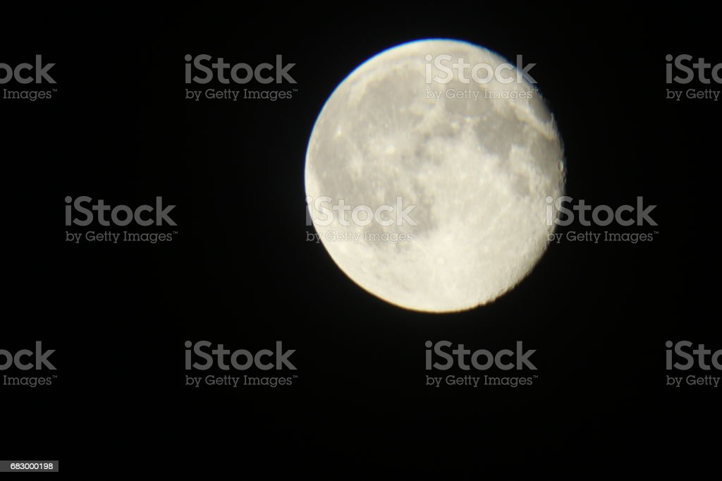 Different colors and different locations of the moon foto de stock royalty-free