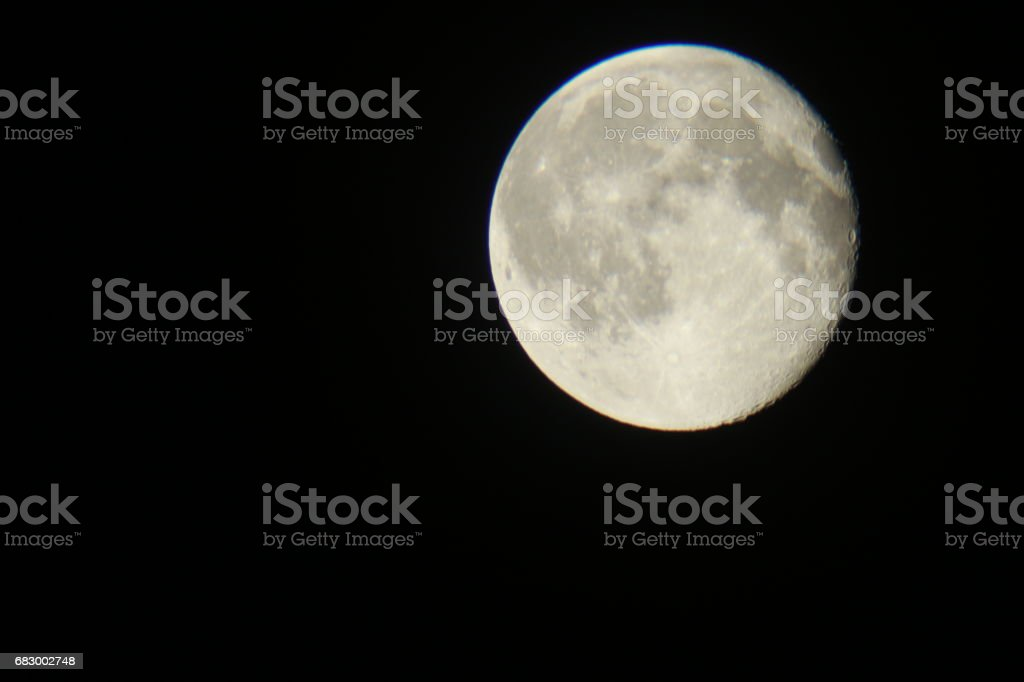 Different colors and different locations of the moon royalty-free stock photo