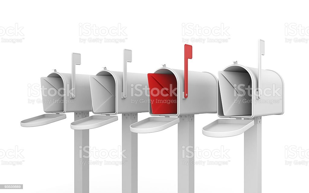 Different concept. Mailbox with envelope. royalty-free stock photo