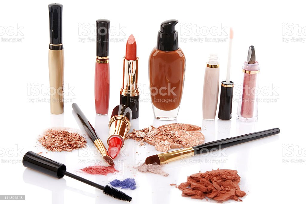 different cosmetics, beauty concept royalty-free stock photo