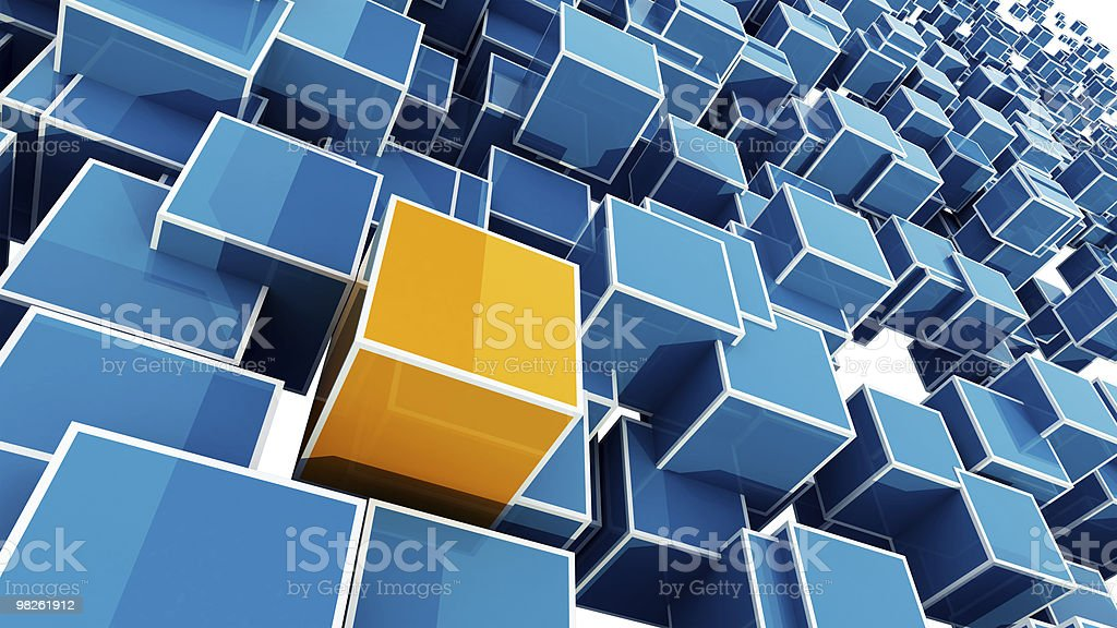 Different cube royalty-free stock photo