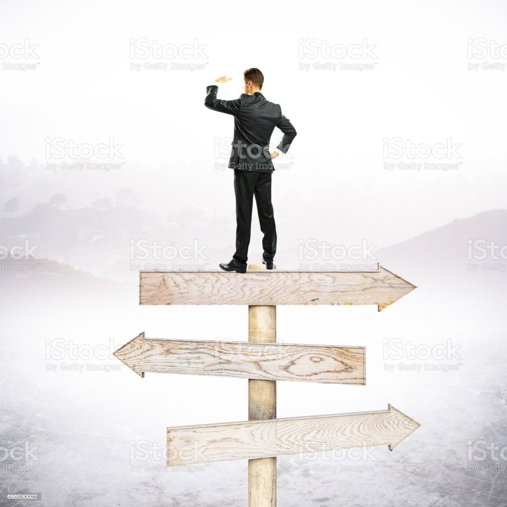 Different direction concept royalty free stockfoto