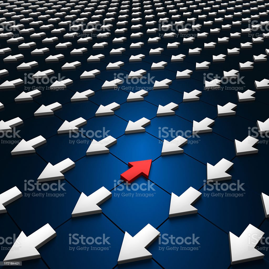 Different Direction XL royalty-free stock photo