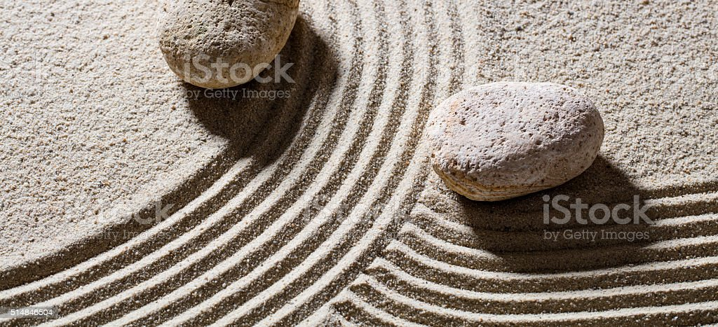 different directions for concept of difference or evolution with peace stock photo