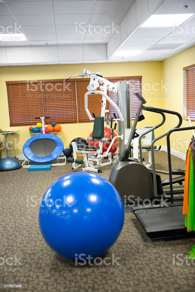 Different equipment found at the physical therapist's office stock photo