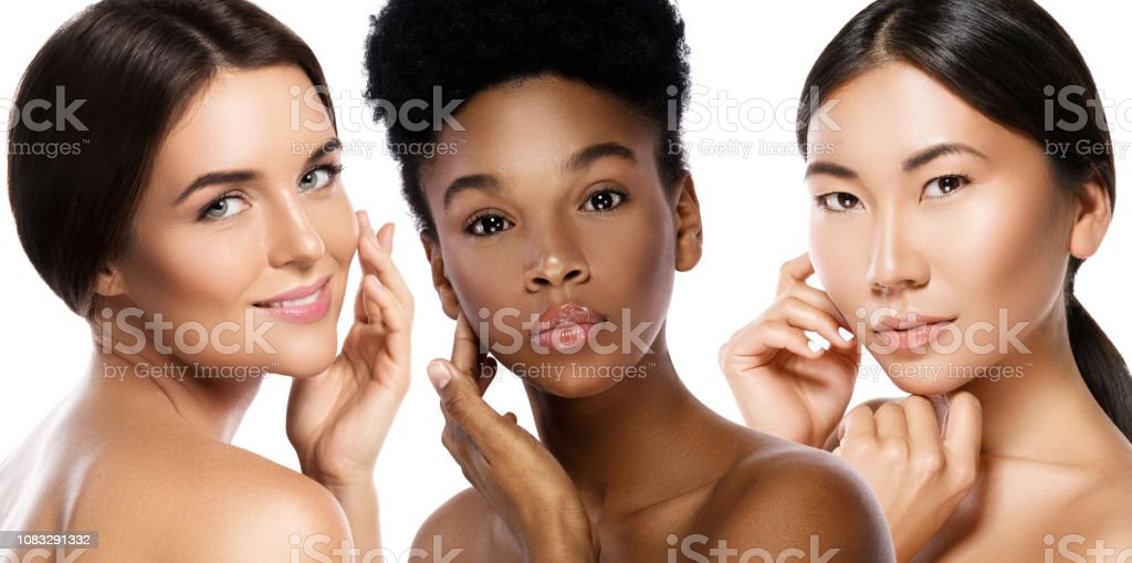 Multi-Ethnic beauty or interracial friendship. Different ethnicity...
