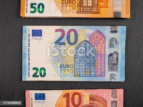 Different Euro banknotes to be used as a finance-background.