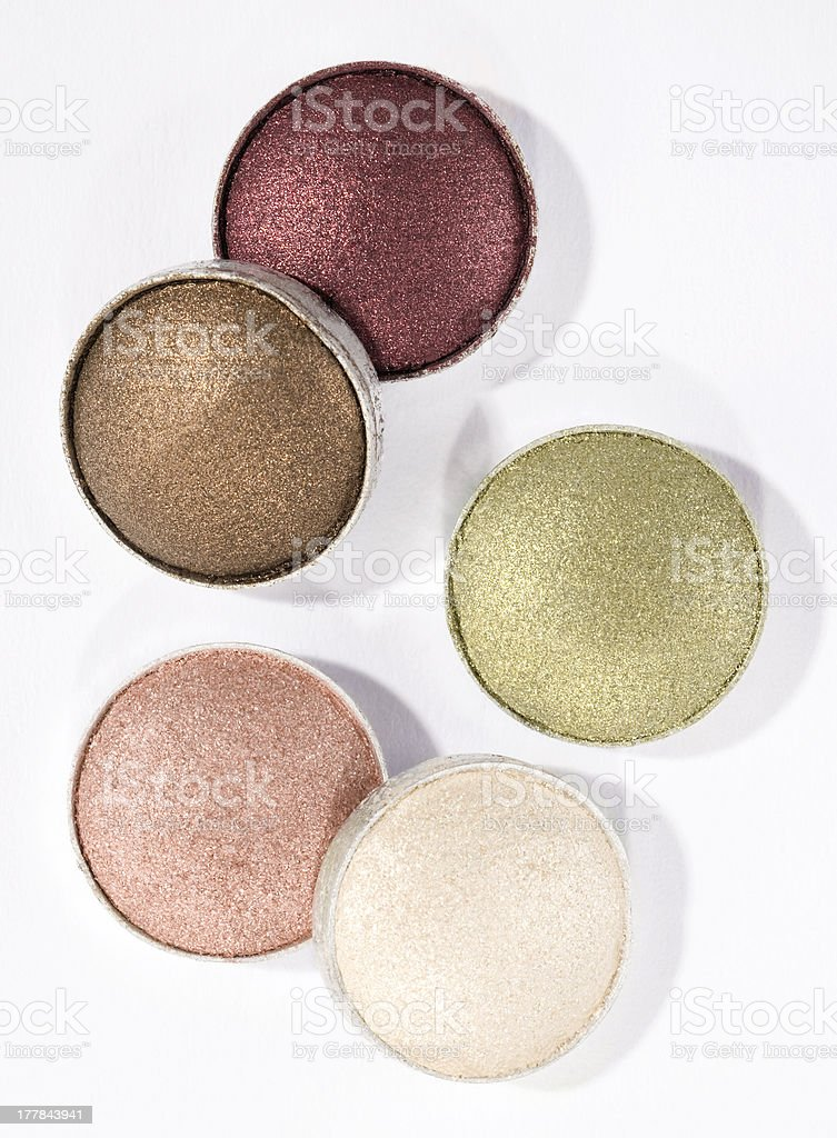 Different eyeshadow royalty-free stock photo
