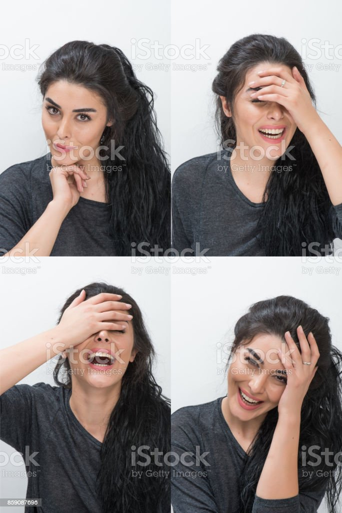Different facial expressions stock photo