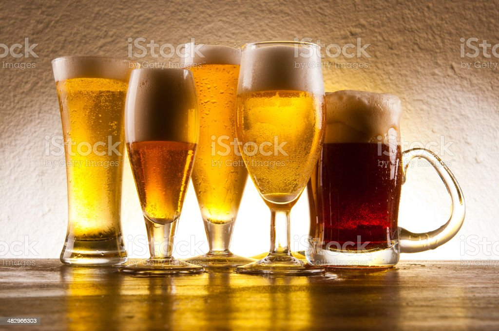 Different Flavours Of Beer #2 royalty-free stock photo