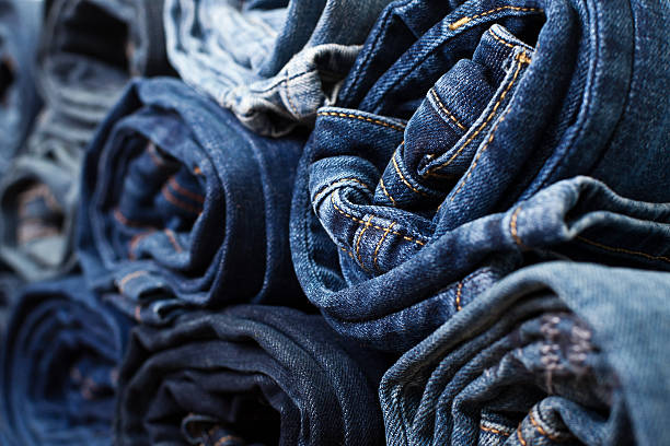 Different folded jeans – Foto