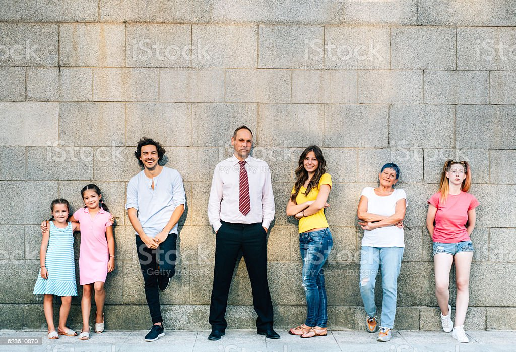 Different generations stock photo