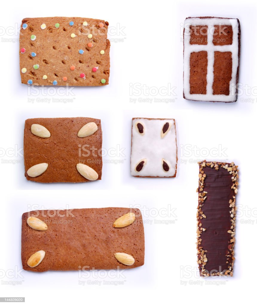 Different gingerbread and cookies No.2 royalty-free stock photo
