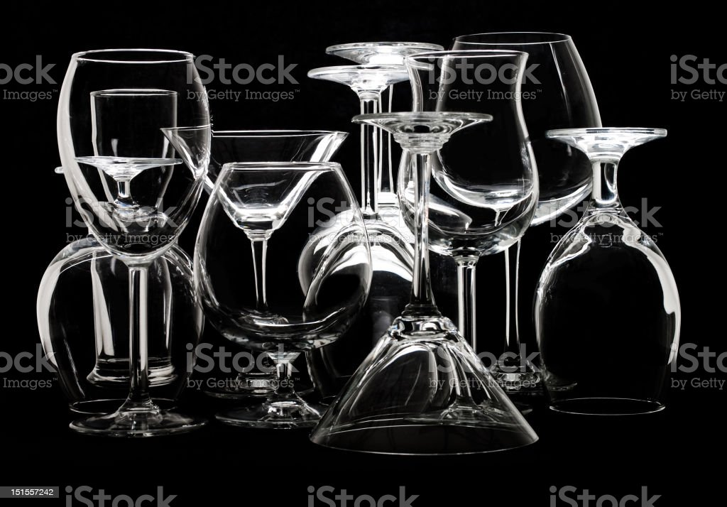 Different glasses royalty-free stock photo