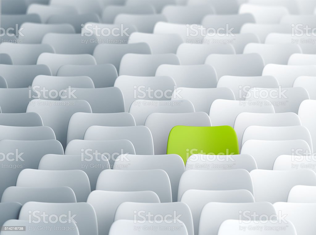 Different green chair stock photo