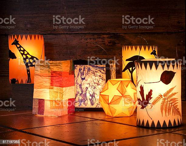 Paper lanterns for Martinmas procession.