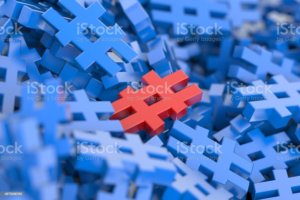 Different Hashtag stock photo