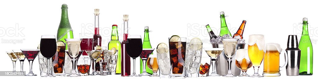 different images of alcohol isolated stock photo