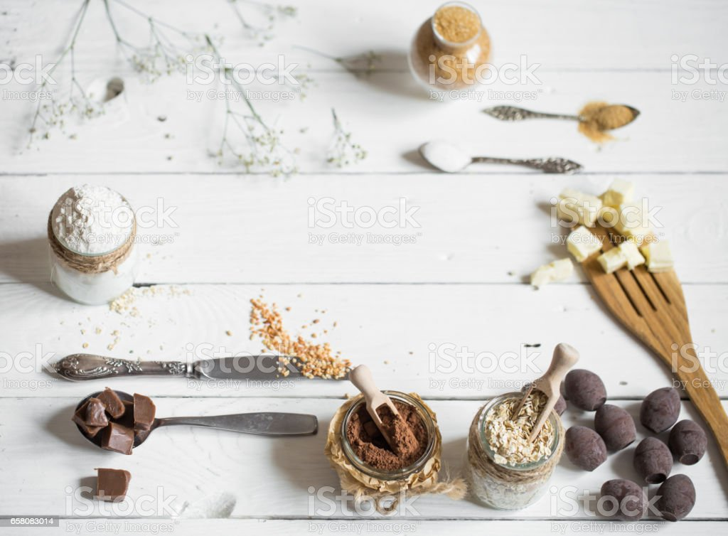 different ingredients Easter royalty-free stock photo