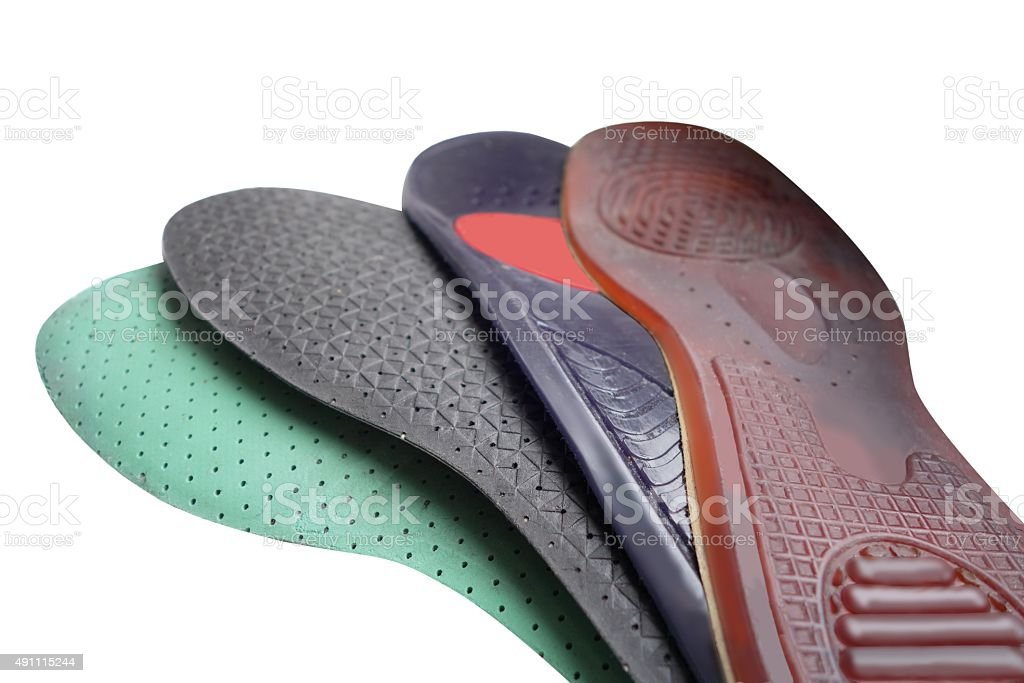 different insoles stock photo
