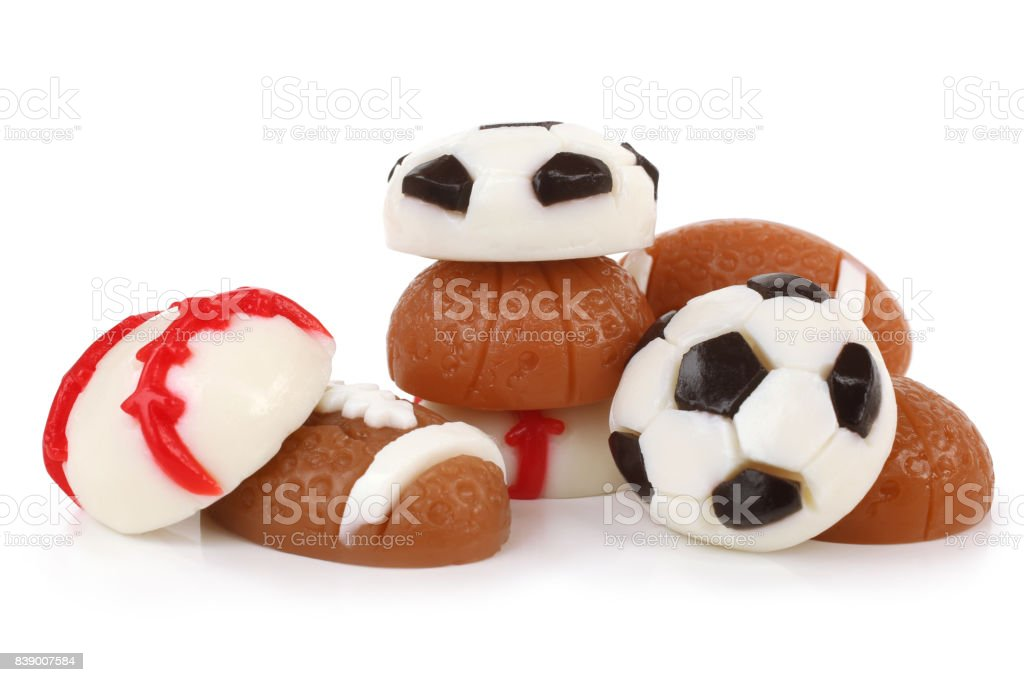 Different jelly sport balls stock photo