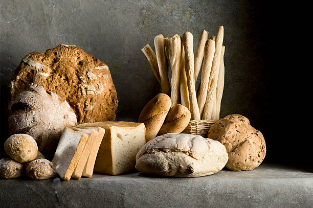 Different Kind Of Bread.Color Image stock photo