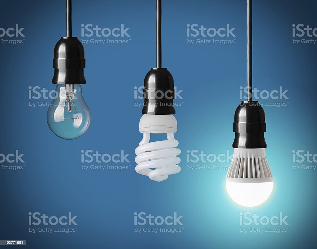 different kind of bulbs stock photo