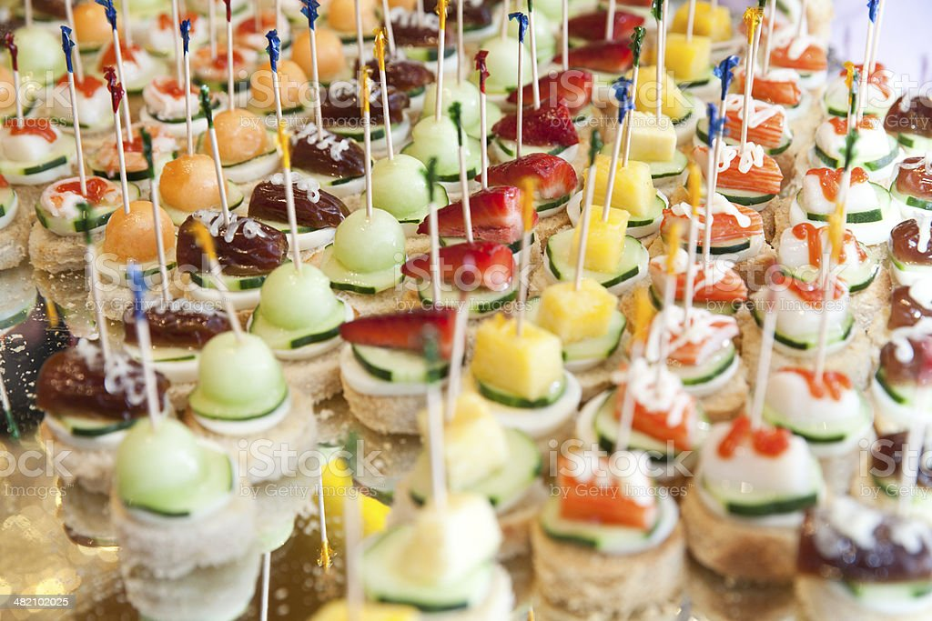 Different kind of canapes stock photo more pictures of - Decoracion de canapes ...