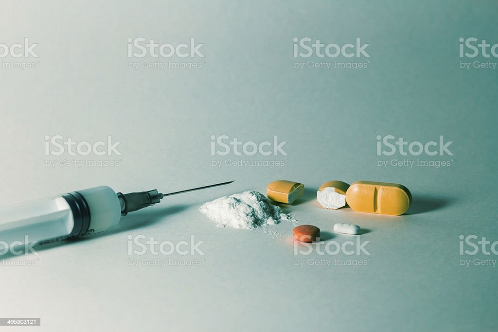 Different kind of medication for different treatment stock photo
