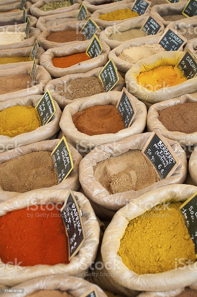 Different Kind of Spices royalty-free stock photo