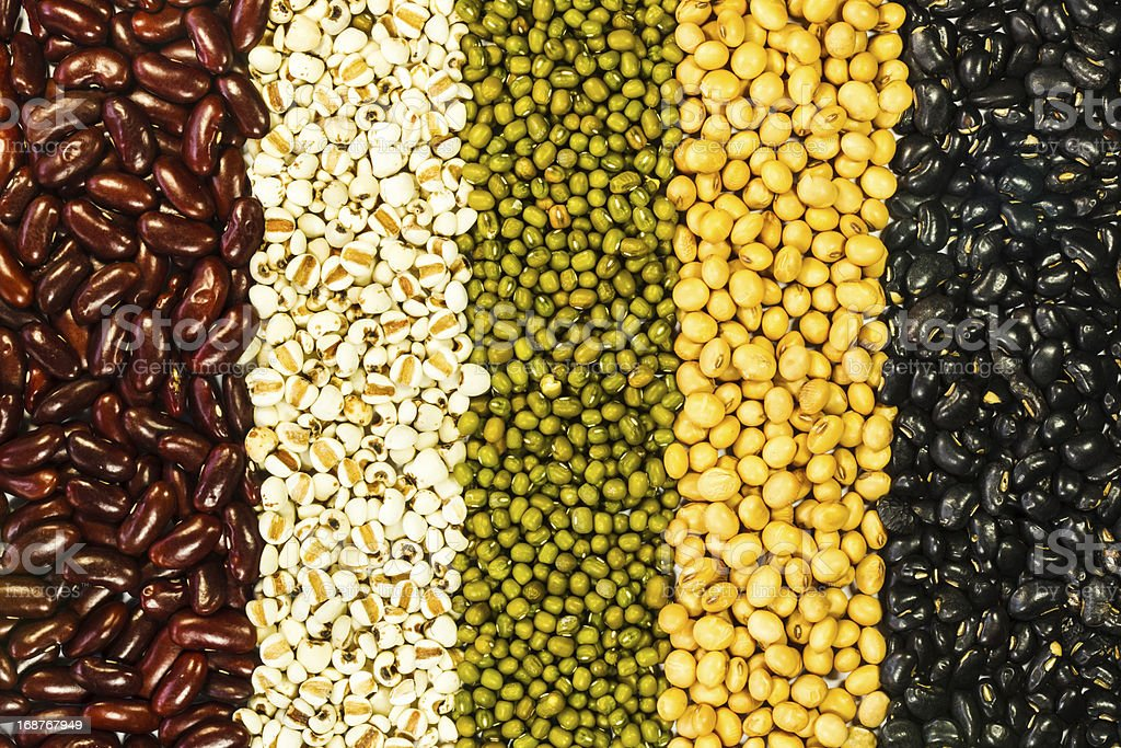 Different kinds of beans royalty-free stock photo