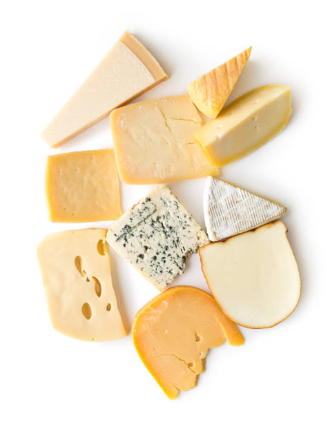 different kinds of cheeses - formaggio foto e immagini stock