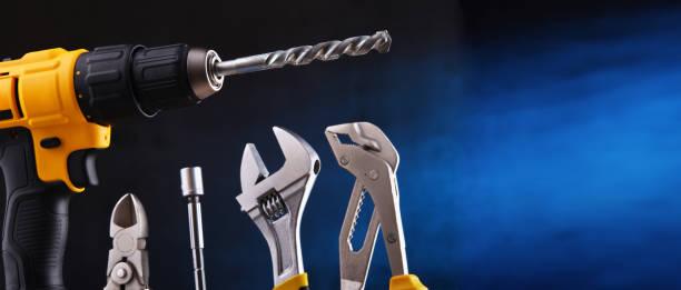 verschiedene hardware-tools - baumarkt stock-fotos und bilder