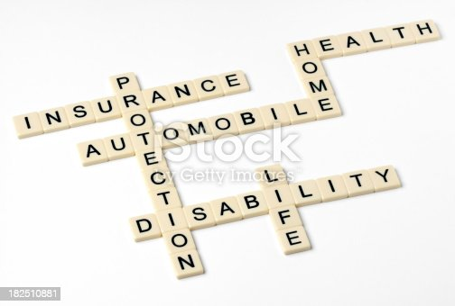 istock Different Kinds of Insurance 182510881