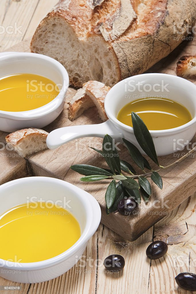 Different kinds of olive oil royalty-free stock photo