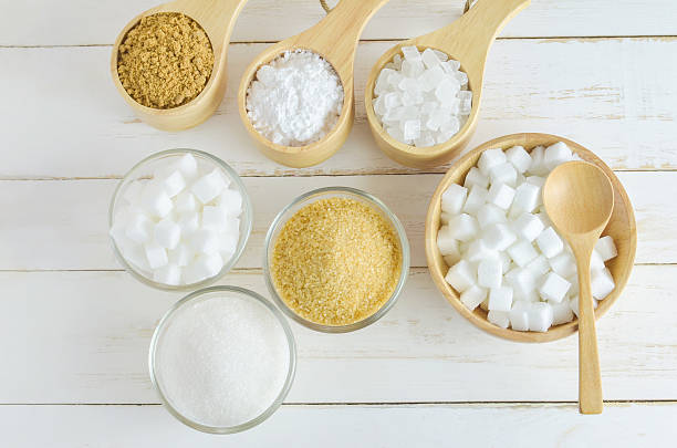 Different kinds of sugar stock photo