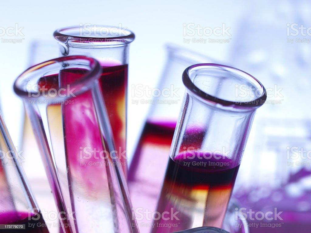 Different laboratory glassware stock photo