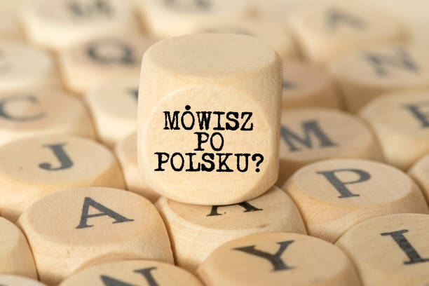 Verschiedene Buchstaben und Frage Sprechen Sie Polnisch – Foto