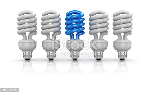 637573406 istock photo Different light bulb on white background 501651750