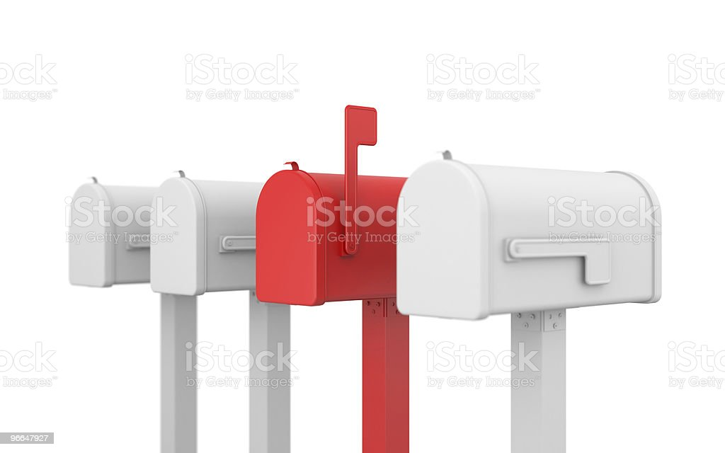 Different mailbox royalty-free stock photo