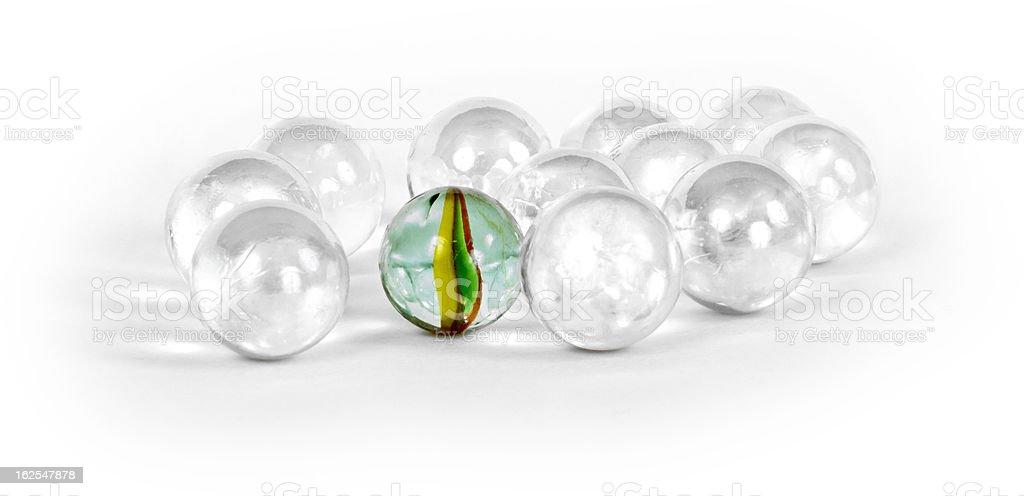 Different marbles stock photo