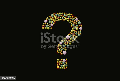 istock different medical drugs and pills on white background/Pretty pills, 3D illustration 927919462