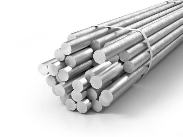 Different metal products. Profiles and tubes. 3d illustration Different metal products. Profiles and tubes. 3d illustration rod stock pictures, royalty-free photos & images