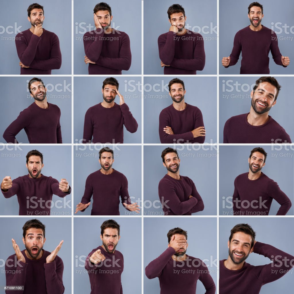 Different moods for different occasions stock photo