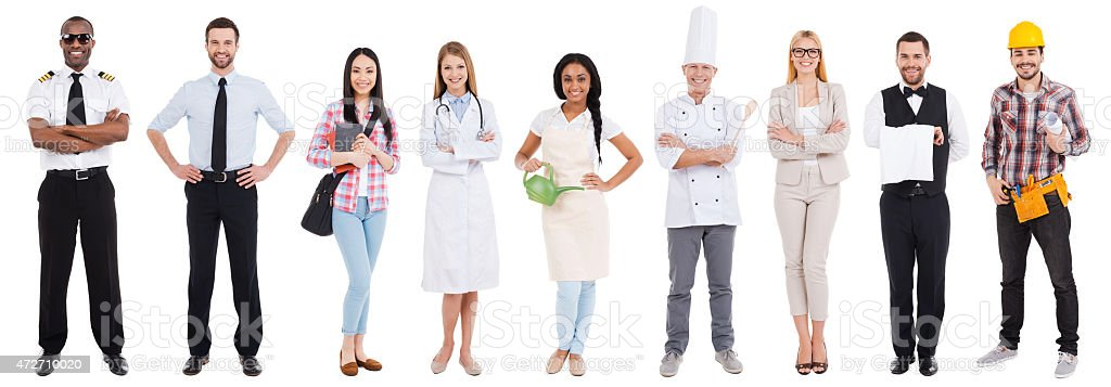 Different occupations. stock photo